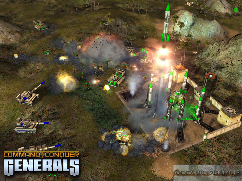 Get free Download Commando & Conquer Generals. This is real time strategy and more interesting video game. It is the first commando RTS game use 3D graphic in game.