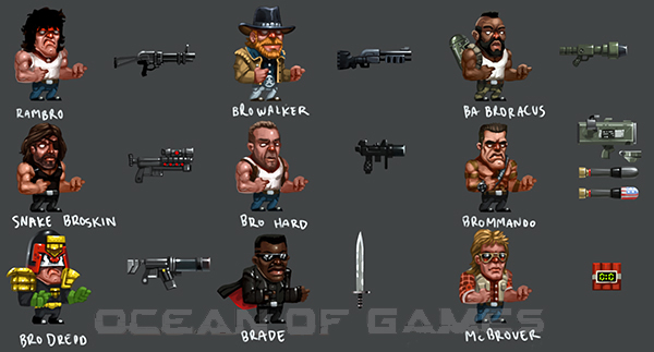 Broforce Features
