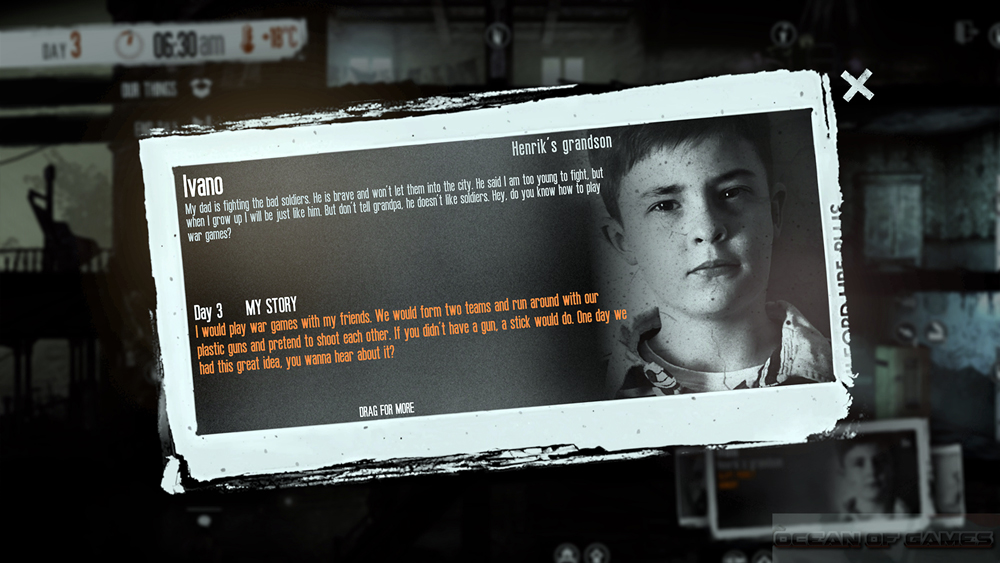 This War of Mine The Little Ones Features