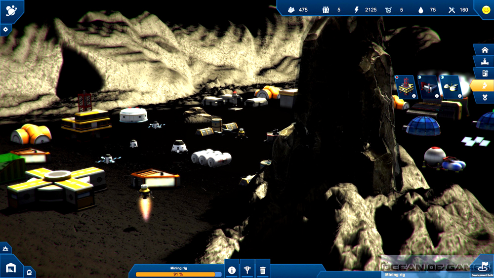 Earth Space Colonies Features