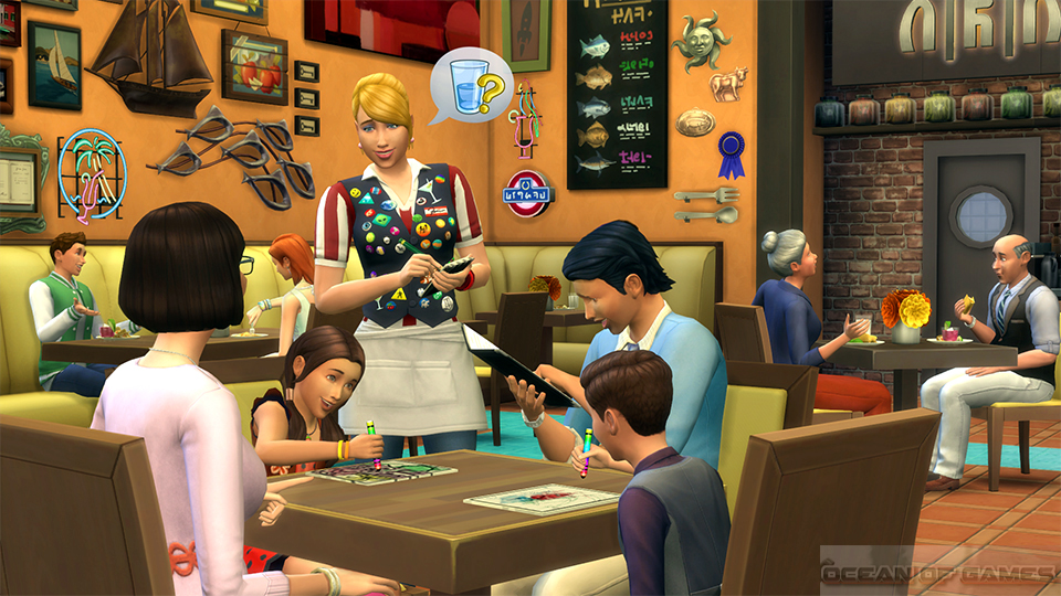 The Sims 4 Dine Out Features