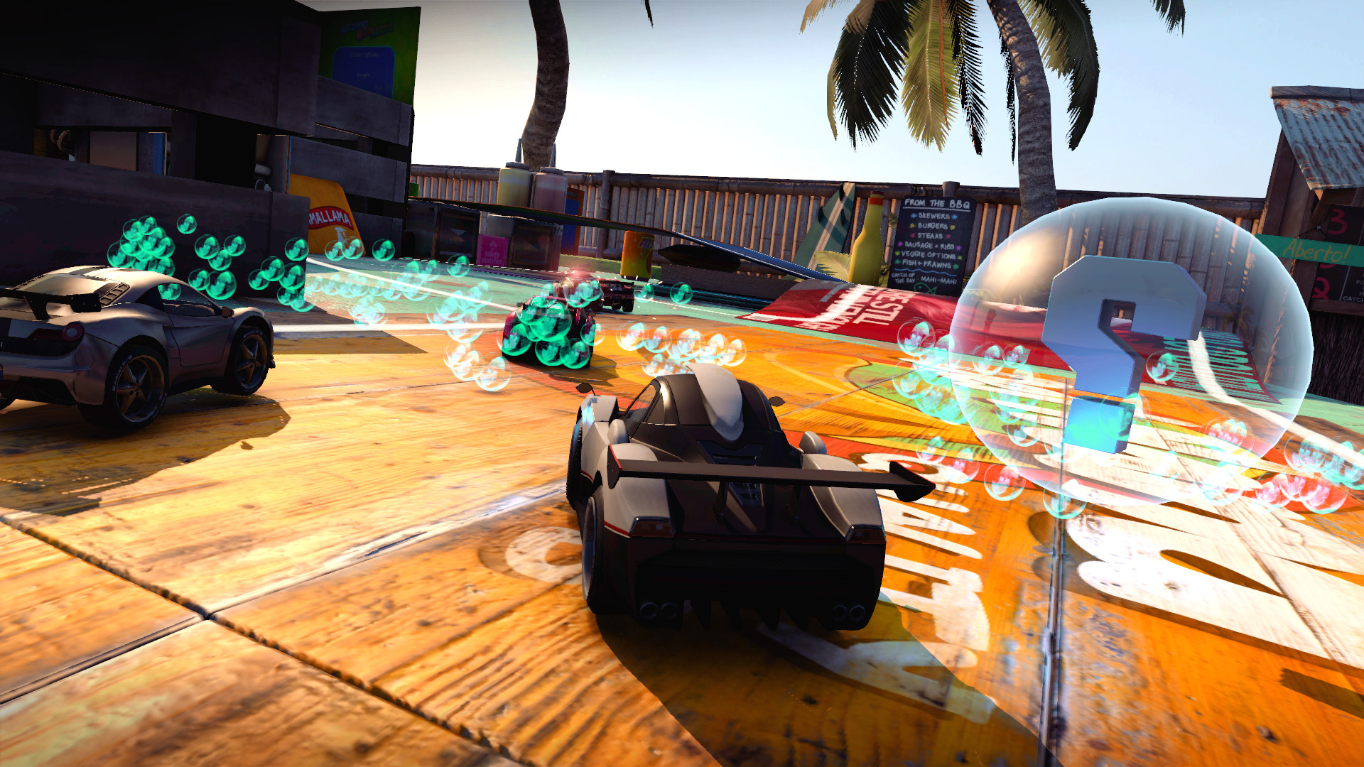 Table Top Racing World Tour Tropical Ice Pack Features
