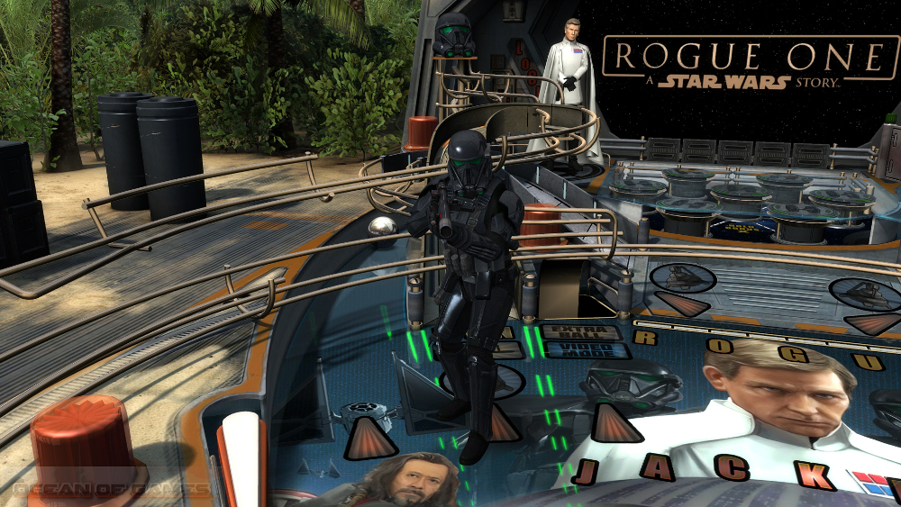 Star Wars Pinball Rogue One Features