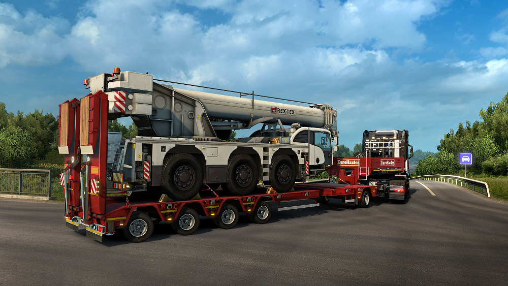Euro Truck Simulator 2 Heavy Cargo Pack Free Download on semi truck cranes